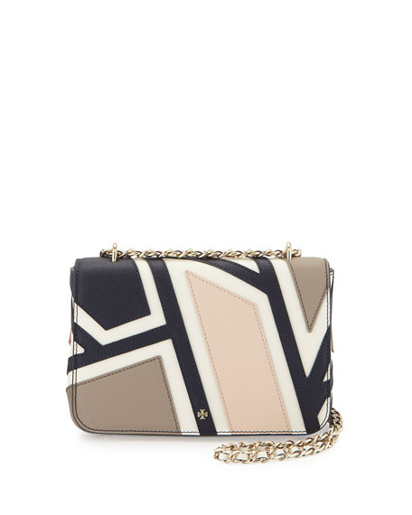 Tory Burch Robinson Fret Patchwork Shoulder Bag, Ivory