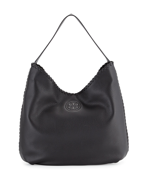 Marion Hobo Bag W Whipsch Trim Black