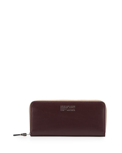 Quintessential Colorblock Slim Wallet, Cardamom Multi