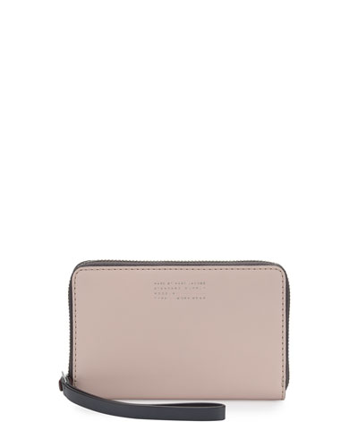 Quintessential Colorblocked Wingman Zip Wallet, Pearl Blush