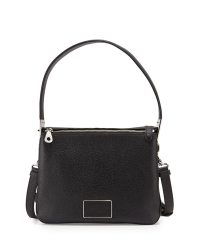 Ligero Leather Shoulder Bag, Black
