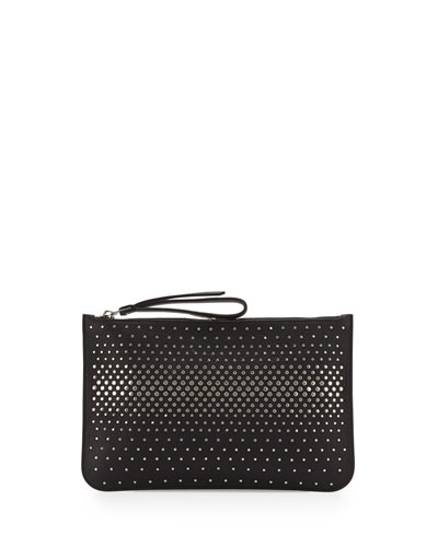 The Roxy Degrade Stud Clutch Bag, Black