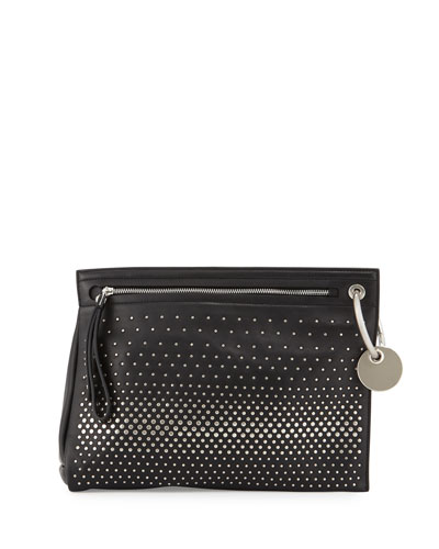 Prism Degrade Studded Clutch Bag, Black