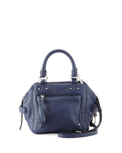 Cube 21 Lamb Leather Shoulder Bag, Amalfi Coast