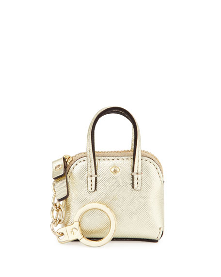 kate spade new york maise keychain, gold