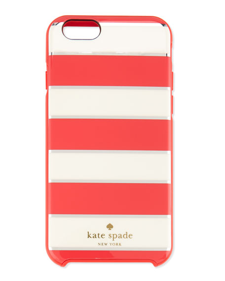 metallic edged stripe iPhone 6 case, geranium