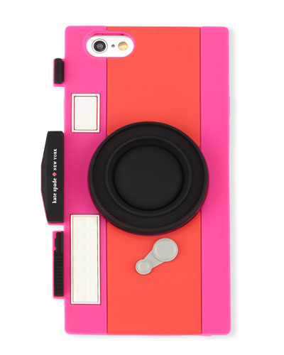 camera-shaped jelly iPhone 6/6s case, geranium/vivid snapdragon