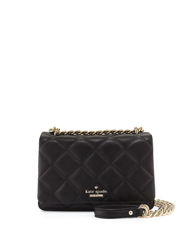 emerson place vivenna mini crossbody bag, black