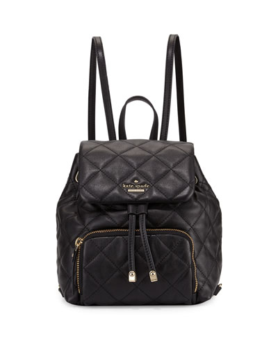 emerson place jessa leather backpack, black