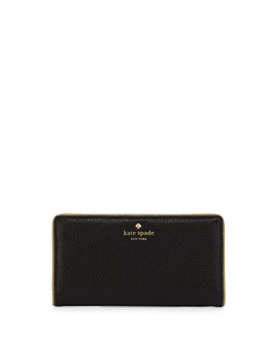 carlton street stacy wallet, black/gold