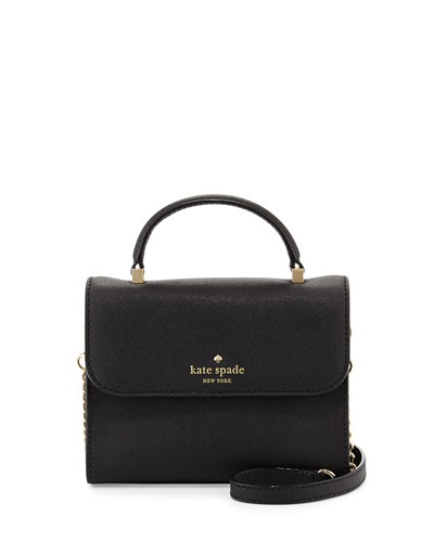 cedar street nora mini crossbody bag, black