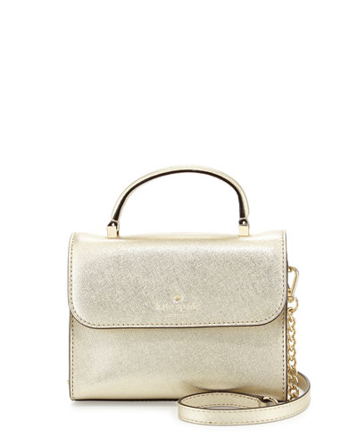 cedar street nora mini crossbody bag, champagne