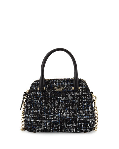 emerson place maise small fabric satchel bag, black/multi