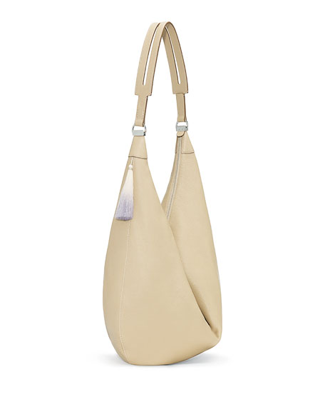 THE ROW Sling 15 Grained Calfskin Hobo Bag,