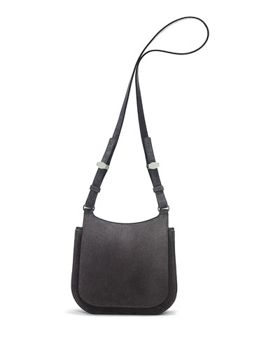 Suede Hunting Bag 9, Pewter