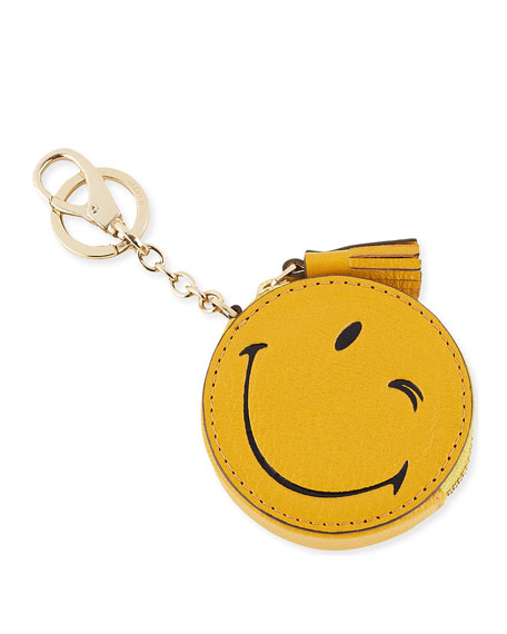 Anya Hindmarch Wink Goatskin Coin Purse, Yellow