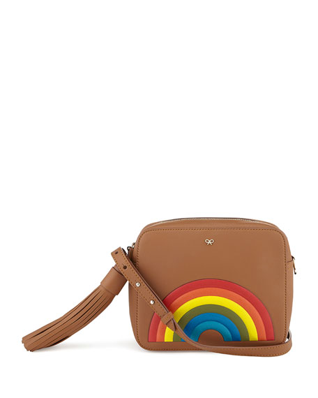 Anya Hindmarch Rainbow Calfskin Crossbody Bag, Caramel