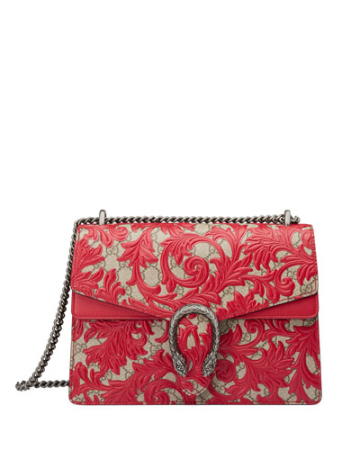 Dionysus Arabesque Shoulder Bag, Red