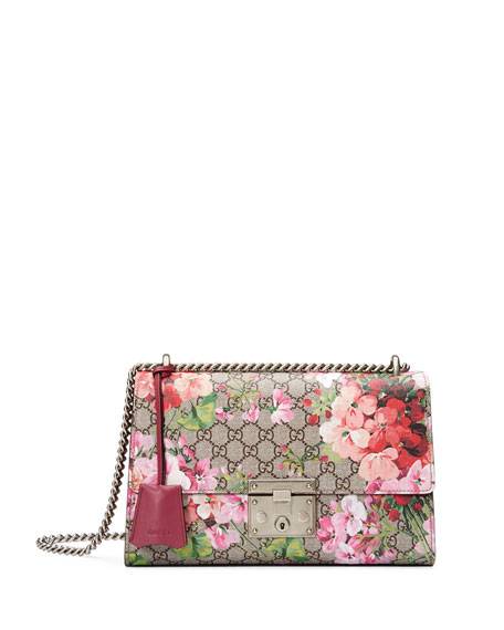 Gucci Padlock Blooms Shoulder Bag, Multi Rose