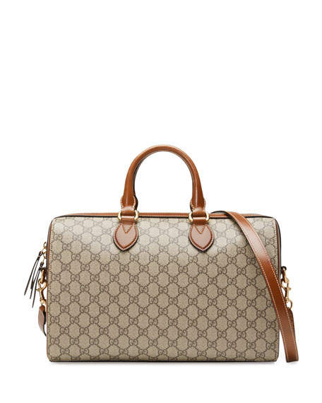 Linea Top Handle Gg Supreme Canvas & Leather Bag - Beige