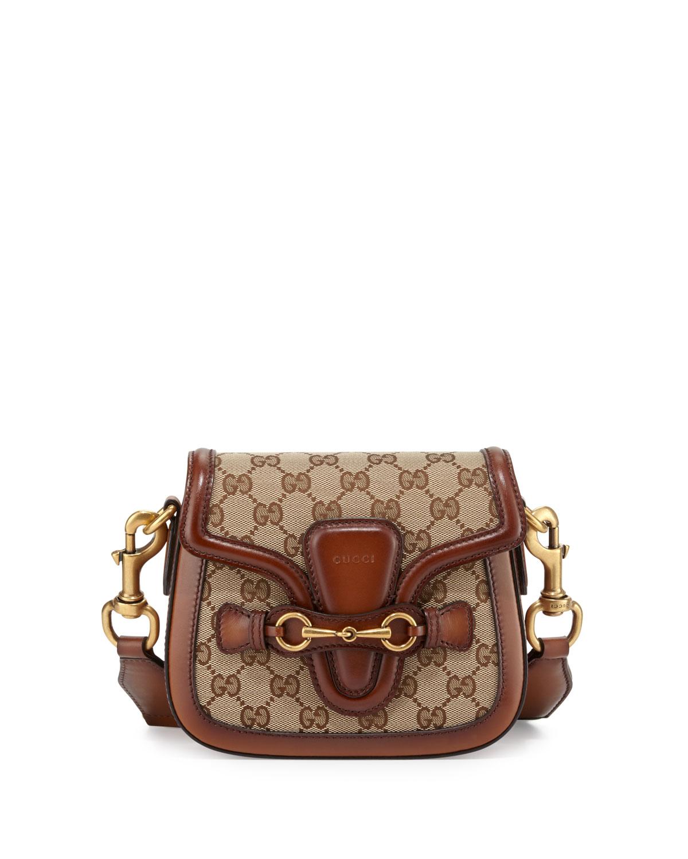 f9eac0d15d1 Gucci Lady Web Small GG Canvas Shoulder Bag