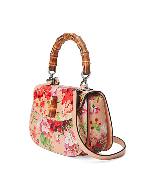 Bamboo gucci classic blooms top handle bag new photo
