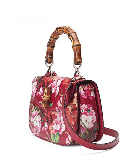 Bamboo Classic Blooms Small Top-Handle Bag, Red