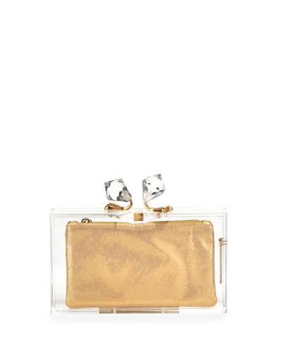 Paragon Pandora Clutch Bag & 3 Pouches, Transparent