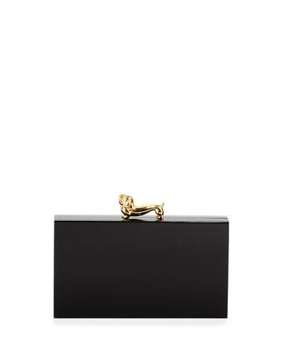 Dachshund Pandora Clutch Bag, Black