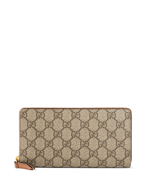 9a569941b89 Gucci GG Supreme Zip-Around Wallet