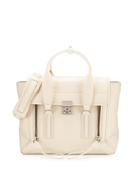 3.1 Phillip Lim Pashli Medium Leather Satchel Bag, Milk