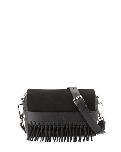 Bianca Small Leather Crossbody Bag, Black