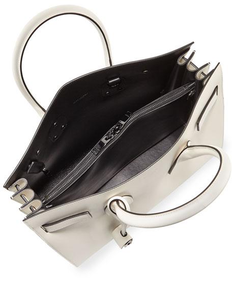 Sac de Jour Small Bicolor Satchel Bag, White/Black