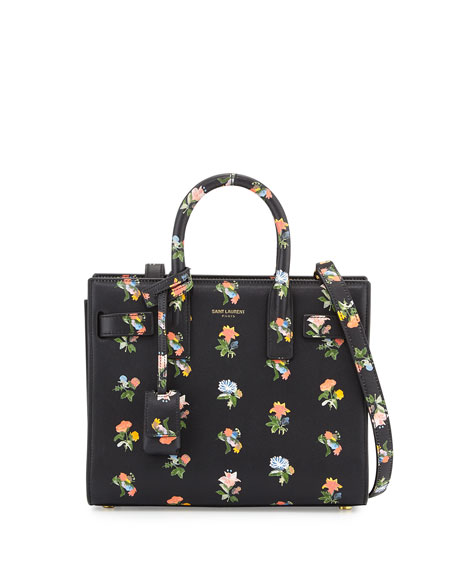 Saint Laurent Sac de Jour Mini Prairie Satchel Bag, Black Multi