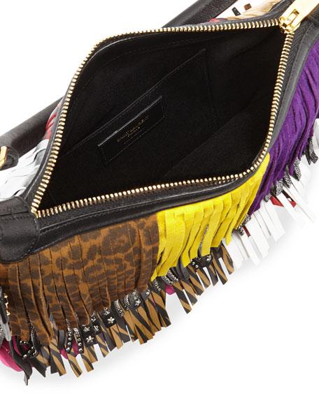 ysl tote - Saint Laurent Emmanuelle Small Leather Fringe Hobo Bag, Black ...