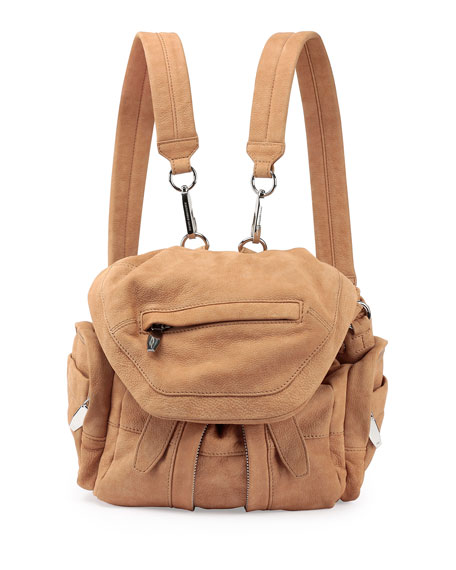 Alexander Wang Marti Mini Nubuck Backpack, Nude