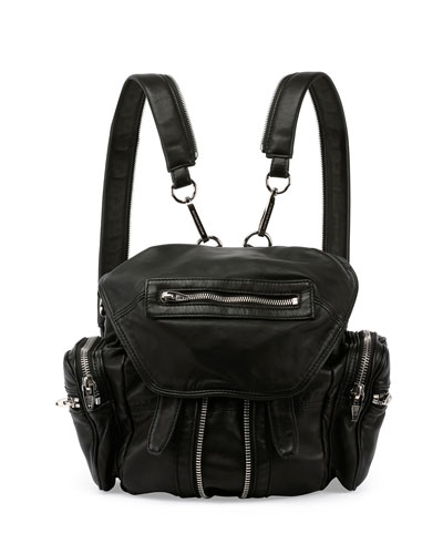 Marti Nylon Backpack, Black