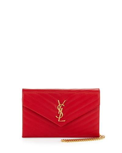 Monogram Large Wallet-on-Chain, Red