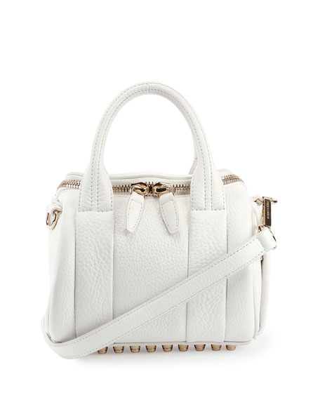 Alexander Wang Mini Rockie Dumbo Pebbled Duffel Bag,