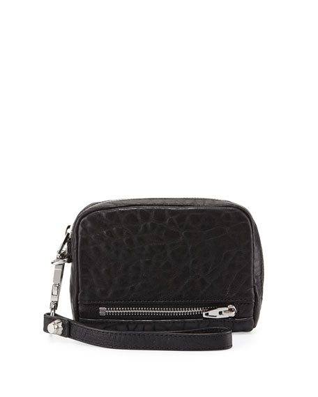 Alexander Wang Fumo Large Zip-Around Wristlet Wallet, Black