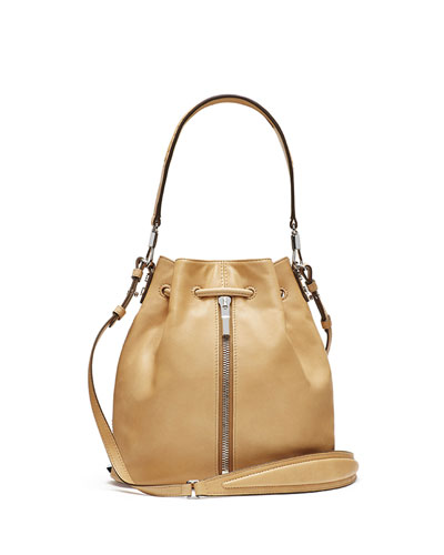 Cynnie Leather Bucket Bag, Durum