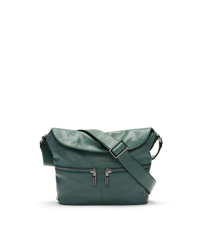 James Small Crossbody Hobo Bag, Canopy Green