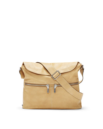 James Small Crossbody Hobo Bag, Durum