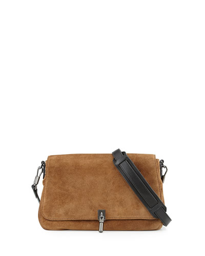 Cynnie Mini Suede Crossbody Bag, Coco