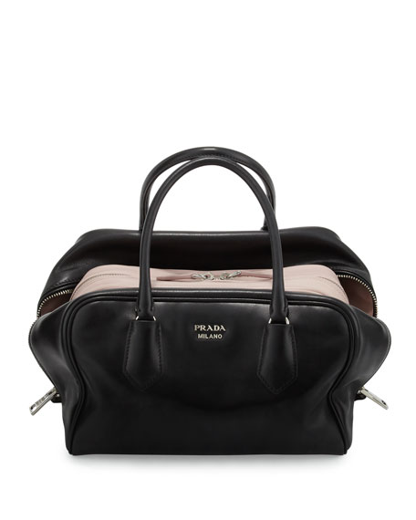 Prada Napa Leather Gloves, Black - prada inside bag black+light pink