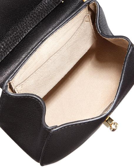 chloe best replica - Chloe Drew Nano Lambskin Saddle Bag, Black