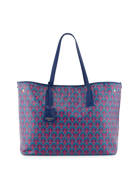 Liberty London Marlborough Iphis Printed Tote Bag, Navy
