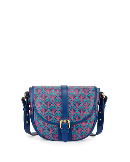 Liberty London Carnaby Iphis Printed Saddle Bag, Navy