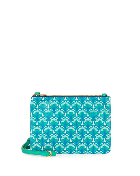 Liberty London Bayley Duo-Pouch Crossbody Bag, Green