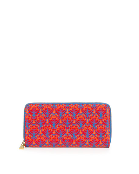 Liberty London Large Iphis Printed Canvas Zip Wallet,